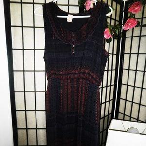 MOSSIMO KNEE LENGTH DRESS WRAP DRESS XL